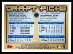 2000 Topps #209   -  B.J. Garbe / Larry Bigbie Draft Picks Back Thumbnail