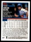2000 Topps #109  Adrian Beltre  Back Thumbnail