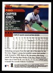 2000 Topps #180  Chipper Jones  Back Thumbnail