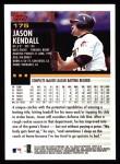 2000 Topps #175  Jason Kendall  Back Thumbnail
