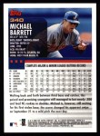 2000 Topps #340  Michael Barrett  Back Thumbnail
