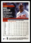 2000 Topps #194  Mike Jackson  Back Thumbnail