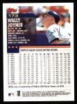2000 Topps #173  Wally Joyner  Back Thumbnail