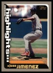 2000 Topps #218   -  Jose Jimenez  Highlights Front Thumbnail