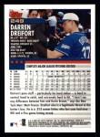 2000 Topps #249  Darren Dreifort  Back Thumbnail