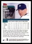2000 Topps #305  Brett Tomko  Back Thumbnail