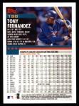 2000 Topps #198  Tony Fernandez  Back Thumbnail