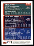 2000 Topps #202   -  Jack Cust / Mike Colangelo / Dee Brown Draft Picks Back Thumbnail