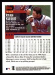 2000 Topps #147  Ryan Klesko  Back Thumbnail