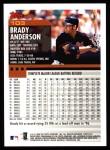 2000 Topps #103  Brady Anderson  Back Thumbnail