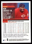 2000 Topps #400  Ken Griffey Jr.  Back Thumbnail