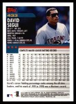 2000 Topps #433  David Segui  Back Thumbnail