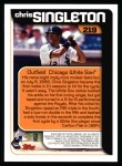 2000 Topps #219   -  Chris Singleton  Highlights Back Thumbnail