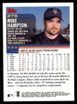 2000 Topps #276  Mike Hampton  Back Thumbnail
