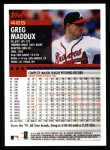 2000 Topps #425  Greg Maddux  Back Thumbnail