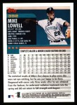 2000 Topps #392  Mike Lowell  Back Thumbnail
