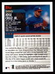 2000 Topps #350  Jose Cruz Jr.  Back Thumbnail