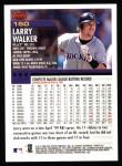2000 Topps #150  Larry Walker  Back Thumbnail
