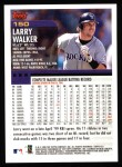 2000 Topps #150  Larry Walker  Back Thumbnail