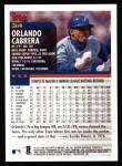 2000 Topps #34  Orlando Cabrera  Back Thumbnail