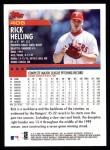 2000 Topps #406  Rick Helling  Back Thumbnail