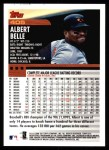 2000 Topps #405  Albert Belle  Back Thumbnail