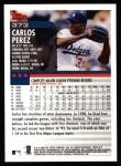 2000 Topps #373  Carlos Perez  Back Thumbnail