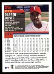2000 Topps #278  Darren Oliver  Back Thumbnail