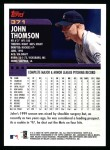 2000 Topps #371  John Thomson  Back Thumbnail