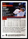 2000 Topps #356  Troy O'Leary  Back Thumbnail