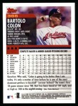 2000 Topps #366  Bartolo Colon  Back Thumbnail