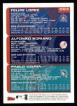 2000 Topps #203   -  Alfonso Soriano / Felipe Lopez Draft Picks Back Thumbnail