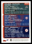 2000 Topps #204   -  Erubial Durazo / Pat Burrell / Nick Johnson Draft Picks Back Thumbnail