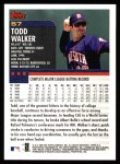 2000 Topps #57  Todd Walker  Back Thumbnail