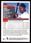 2000 Topps #267  Carl Everett  Back Thumbnail