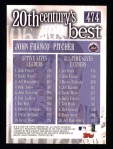 2000 Topps #474   -  John Franco 20th Century's Best Back Thumbnail