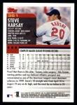 2000 Topps #361  Steve Karsay  Back Thumbnail