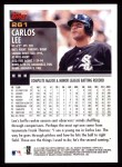 2000 Topps #261  Carlos Lee  Back Thumbnail