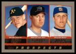 2000 Topps #441  Sean Burroughs / Adam Piatt / Aubrey Huff  Front Thumbnail