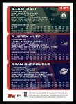 2000 Topps #441  Sean Burroughs / Adam Piatt / Aubrey Huff  Back Thumbnail