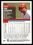 2000 Topps #183  Tom Goodwin  Back Thumbnail