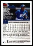2000 Topps #282  Carlos Febles  Back Thumbnail