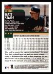 2000 Topps #390  Matt Stairs  Back Thumbnail