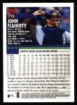 2000 Topps #75  John Flaherty  Back Thumbnail