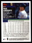 2000 Topps #91  Paul Sorrento  Back Thumbnail