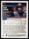 2000 Topps #9  Todd Greene  Back Thumbnail