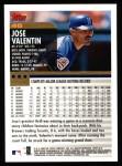 2000 Topps #46  Jose Valentin  Back Thumbnail