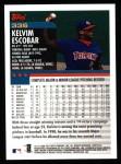 2000 Topps #336  Kelvim Escobar  Back Thumbnail
