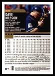 2000 Topps #69  Dave Nilsson  Back Thumbnail