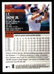 2000 Topps #35  J.T. Snow  Back Thumbnail